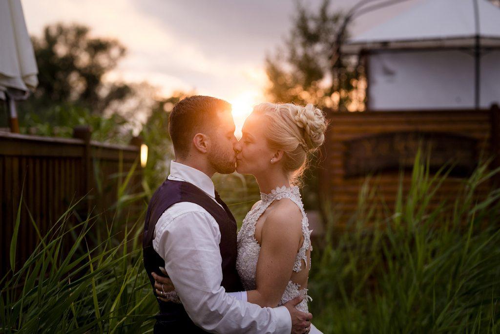 Hochzeitsfoto Sonnenuntergang