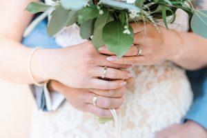Nahaufnahme Ringe Brautpaar